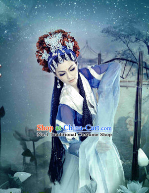 China Fashion Opera Stage Performance Kimono Dress and Hair Jewelry