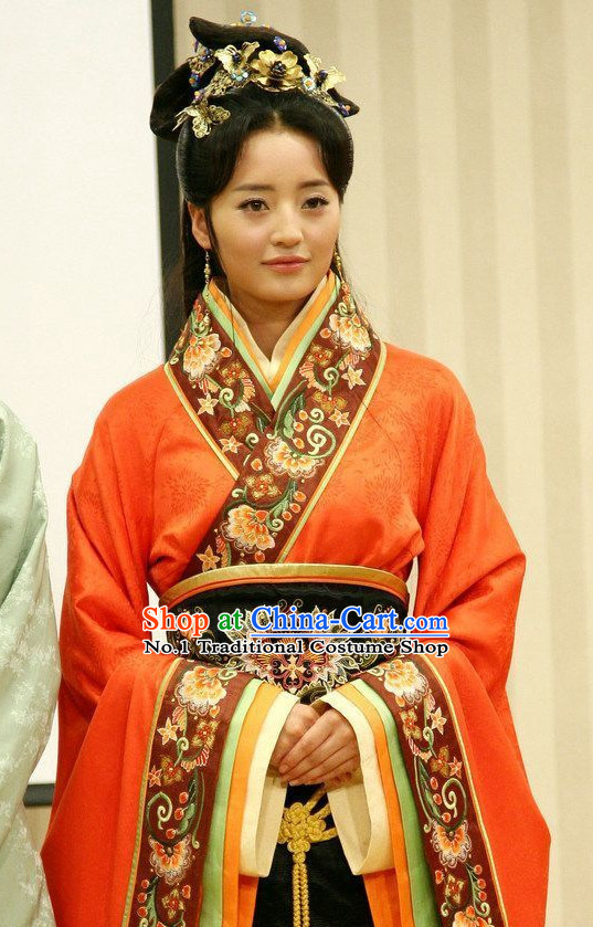 China Fashion Xi Shi Costumes and Hair Accessories Full Set