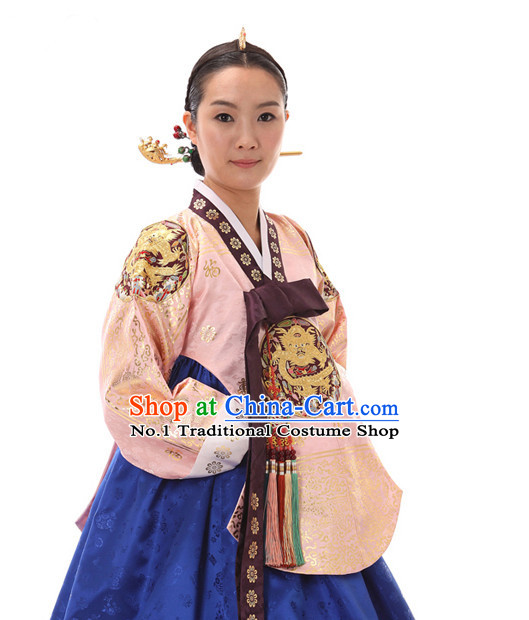 Korean Traditional Dress Dangui Hanbok Clothing Complete Set