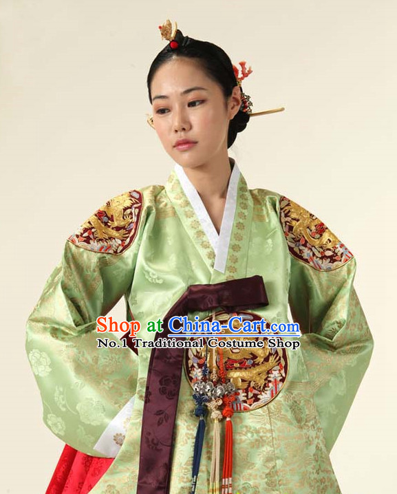 Korean Traditional Roayl Hanbok Dress Dangui Clothes Complete Set