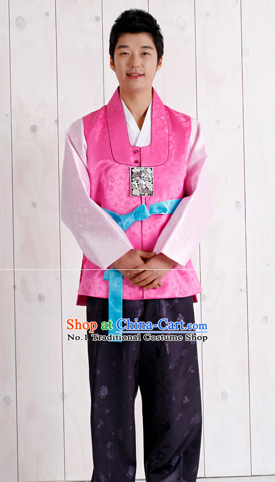 Korean Traditional Mens Bridegroom Wedding Dress Suit