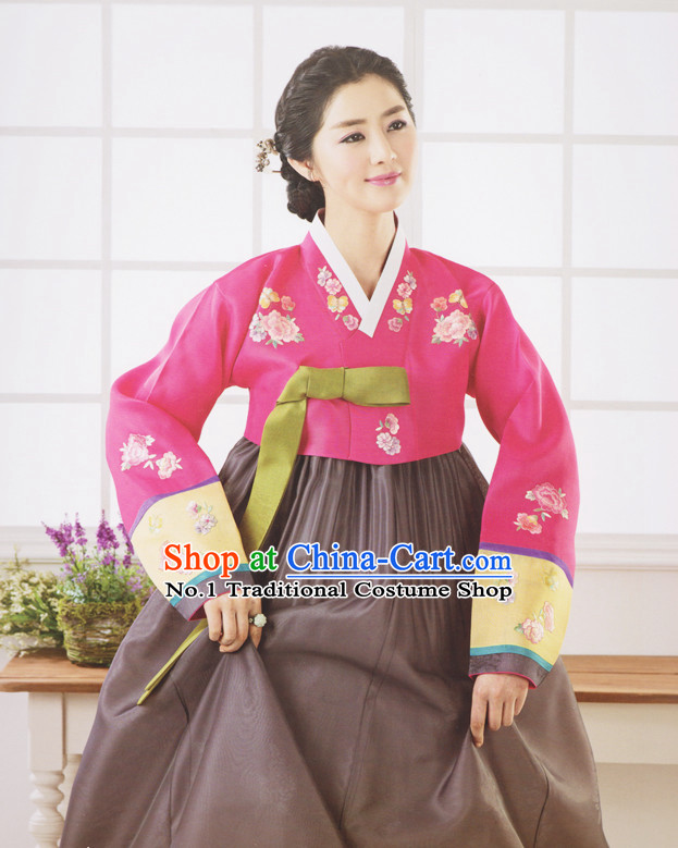 Korean Traditional Womens Brides Wedding Dress Suit