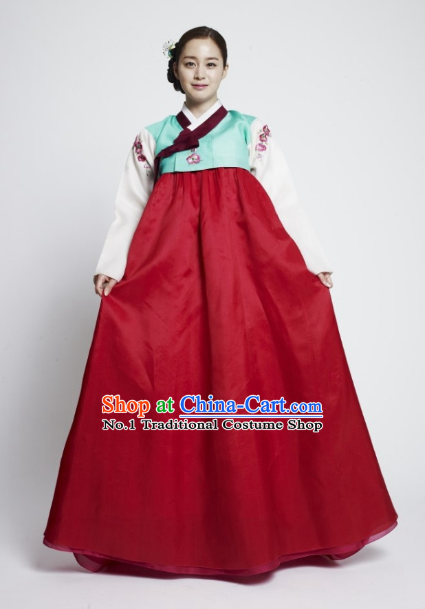 Korean Princess Ancient Female Costumes Complete Set