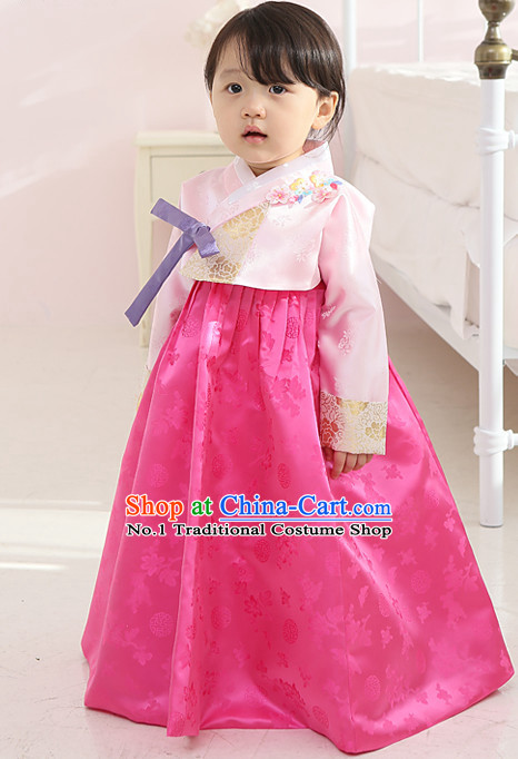 Korean Traditional Hanbok Clothing for Girls