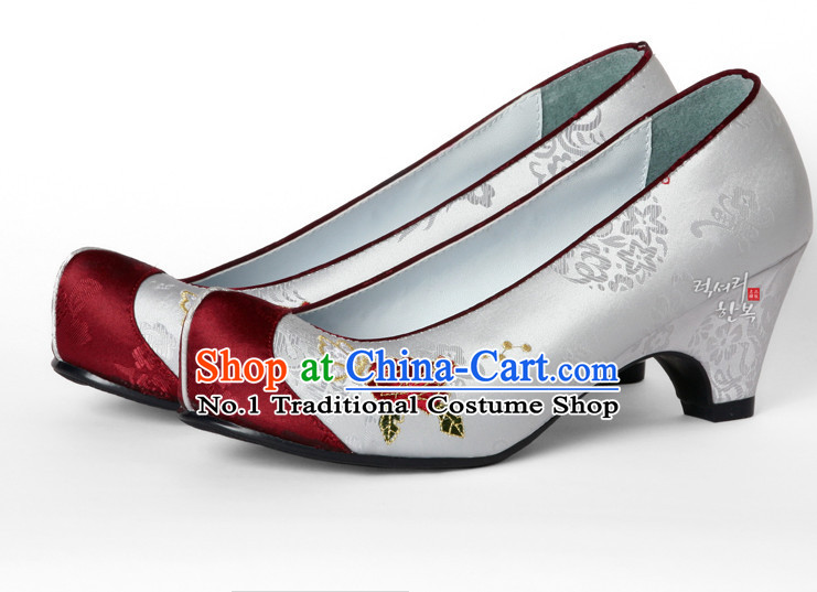 Korean Traditional Wedding Bridal High Heel Shoes for Brides