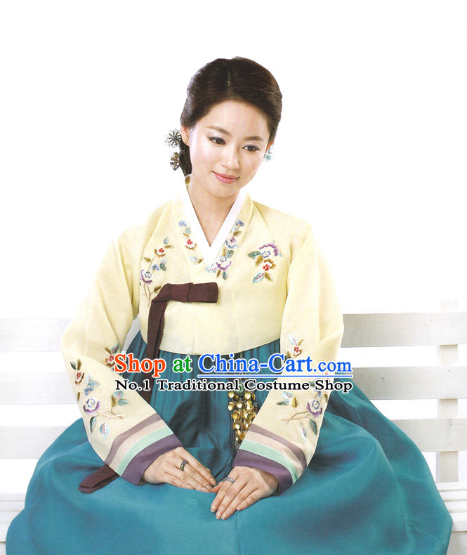 Korean Mother in Law National Costumes Complete Set