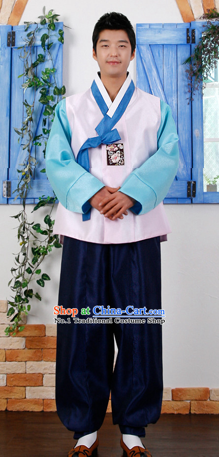 Korean Male Bridal Hanbok Complete Set