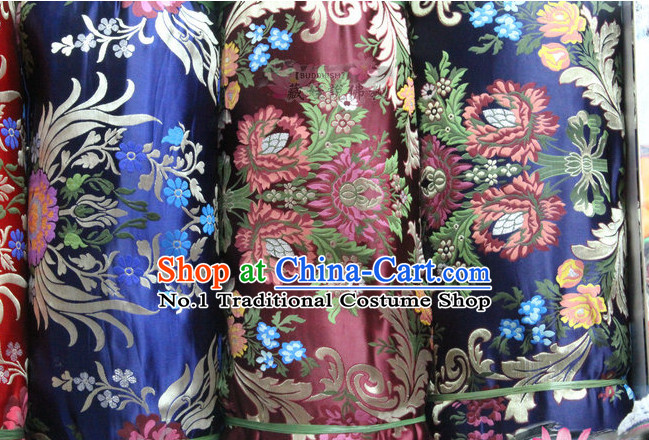 Asian Chinese Traditional Tibetan Brocade Dress Material