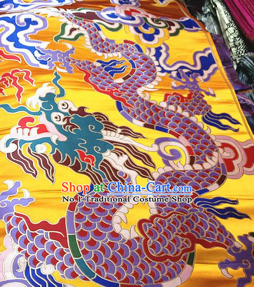 Asian Chinese Traditional Tibetan Dragon Brocade Dress Material