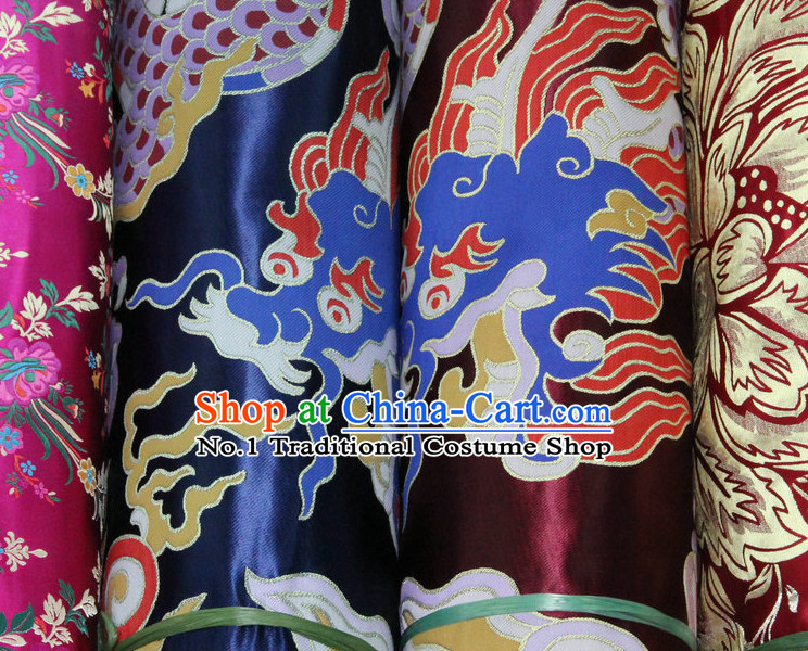 Asian Tibetan Brocade Embroidered Fabric Sewing Material