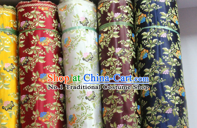 Chinese Tibetan Brocade Embroidered Fabric Upholstery