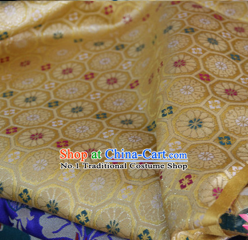 Chinese Tibetan Brocade Upholstery Material Embroidered Fabric Dress Material