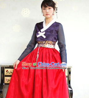 Korean Traditional Clothing Plus Size Clothing Fashion Clothes Complete Set for Teenagers