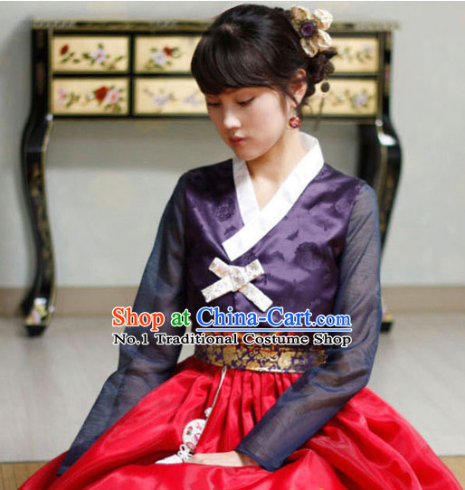 Korean ancient costumes traditional dress party garment birthday hanbok