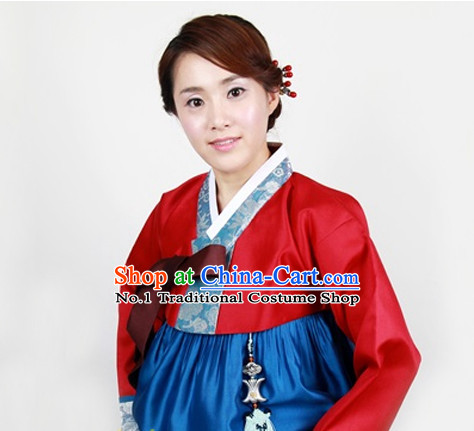 Korean Traditional Clothing Plus Size Clothing Fashion Clothes Complete Set for Ladies