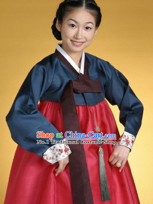 Korean Traditional Dress Lady Plus Size Clothing Complete Set
