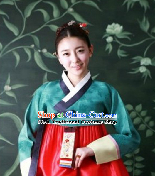 Korean Traditional Dress Lady Plus Size Clothes Complete Set