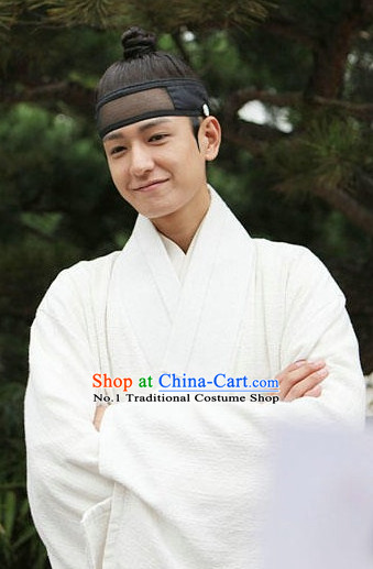 Korean Male White National Dress Costumes Traditional Costumes Traditional Clothing