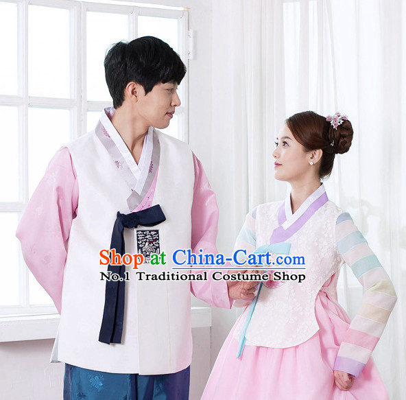 Korean Couple National Costumes Traditional Costumes Korean Fashion Style