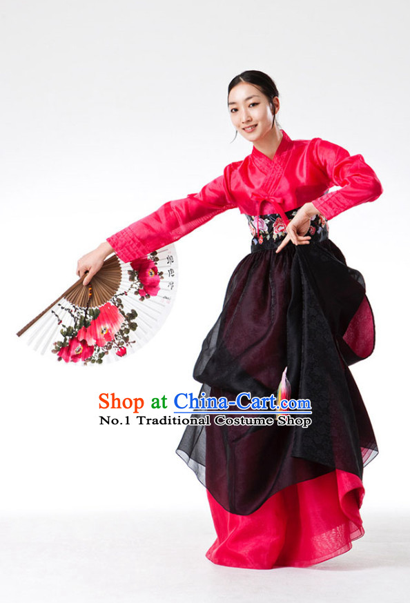 Korean Fan Dance Costumes for Women