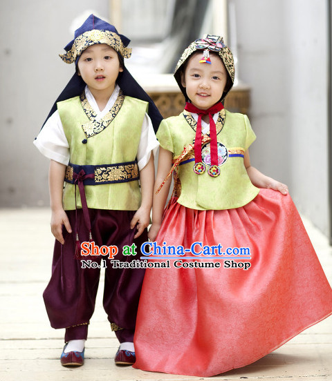 Korean Plus Size Clothing Fashion Clothes Dance Attire Dance Gear Hanbok for Kids
