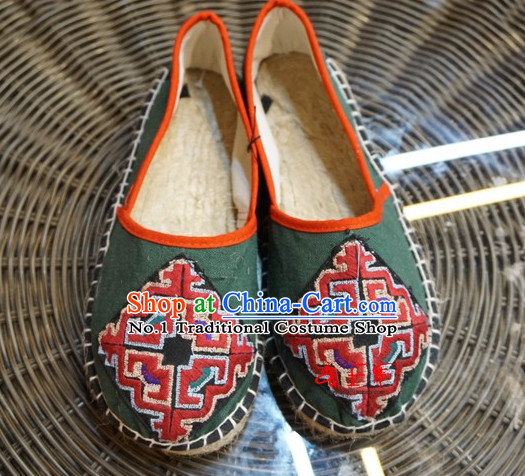 Chinese Ancient Style Handmade Fabric Shoes