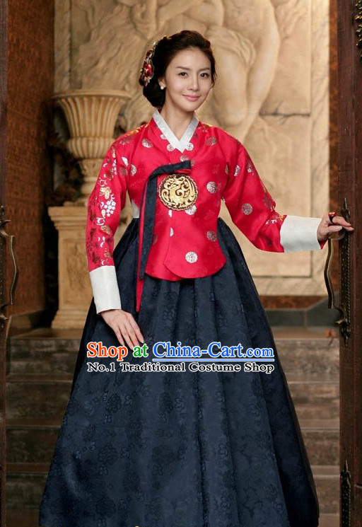 Korean Traditional Wedding Dress Complete Set for Women