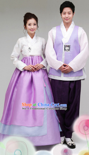 Korean Traditional Couple Dresses 2 Sets