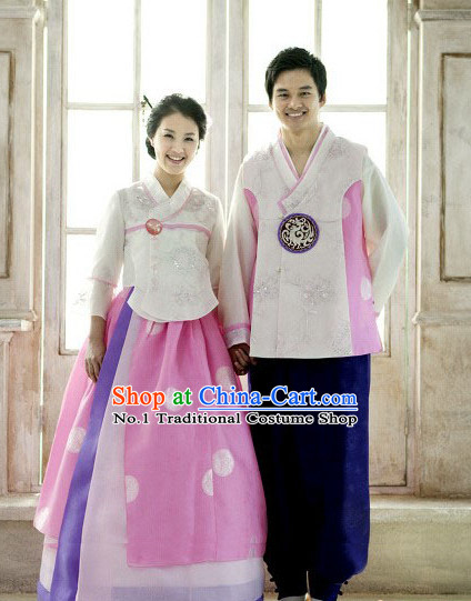 Korean Traditional Hanbok Clothing 2 Sets