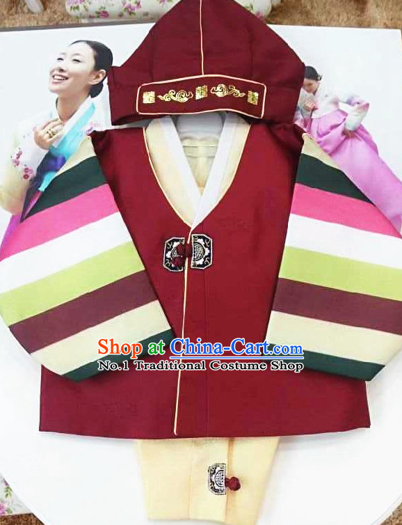 Traditional Korean Fashion Style Kids Clothing Complete Set