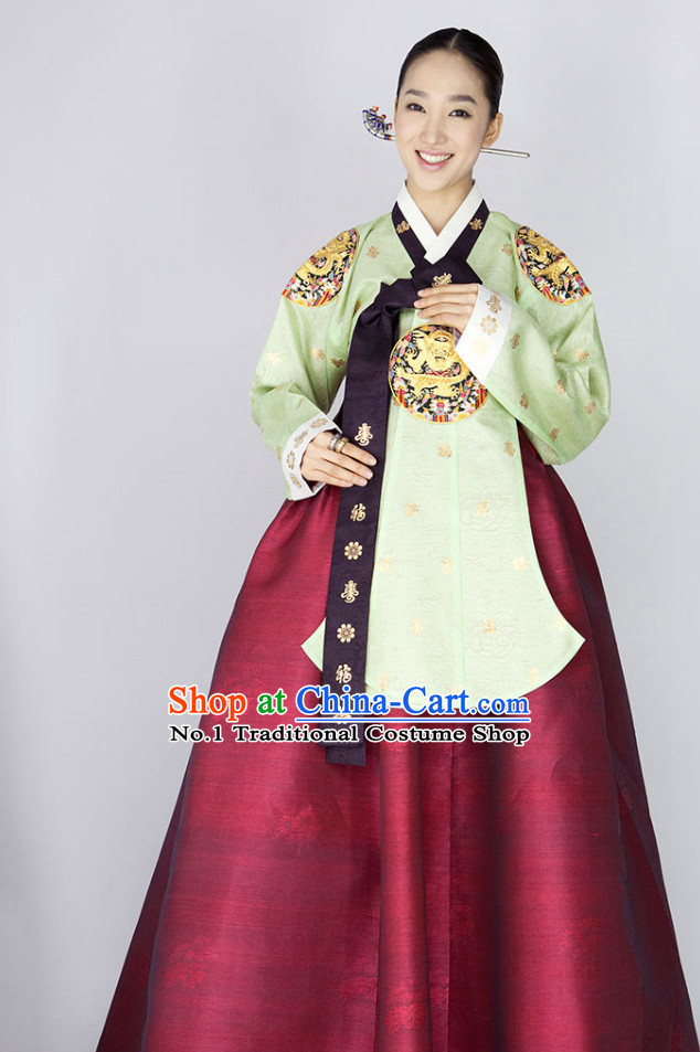 Traditional Korean Royal Princess Costumes Complete Set for Women