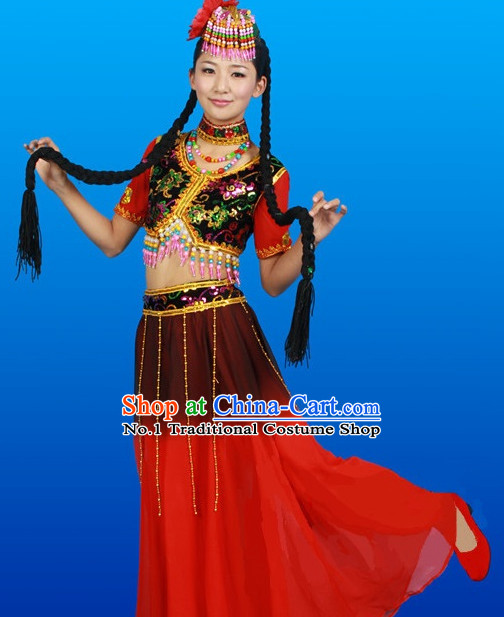 Chinese Costumes Female Ethnic Groups Outfits