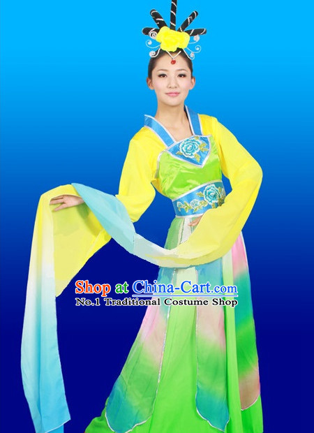 Chinese Stage Dance Costumes Female Ethnic Groups Outfits