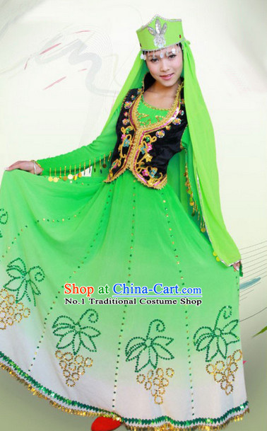 Chinese Xinjiang Dancing Costume Complete Set for Women
