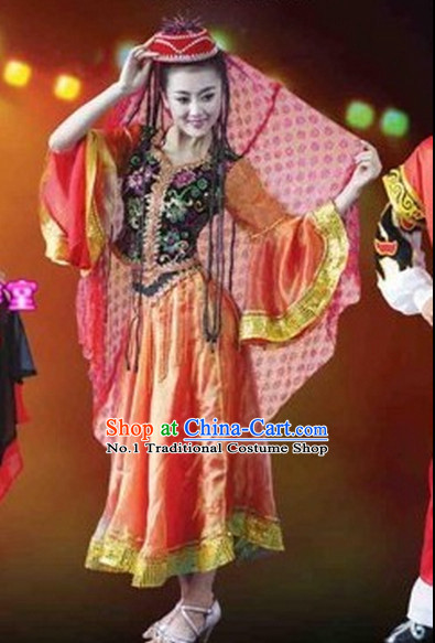 Chinese Xinjiang Ethnic Costumes Complete Set for Women