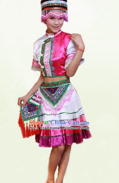 Chinese Costumes Miao Ethnic Costume Complete Set for Women