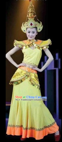 Chinese Dance Costumes Female Ethnic Groups Clothes
