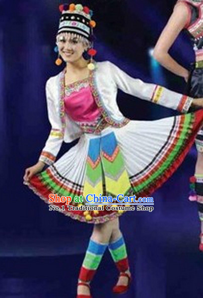 Chinese Miao Dance Costumes Female Ethnic Groups Clothes