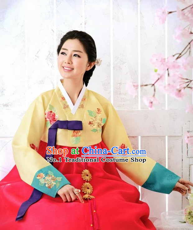 Korean Hanbok Wife Clothing Fashion Clothes Korean Traditional Dresses