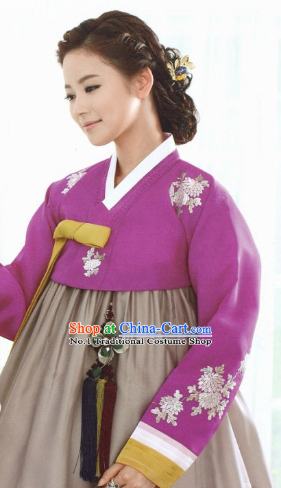 Korean Cusotm Made National Costumes Traditional Hanbok Clothes online Shopping