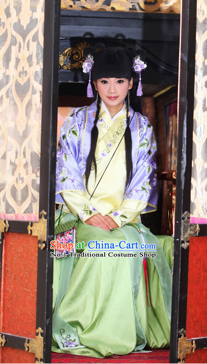 Ancient Chinese Descendants of Royal Families Costume Noble Birth Women Costumes Complete Set
