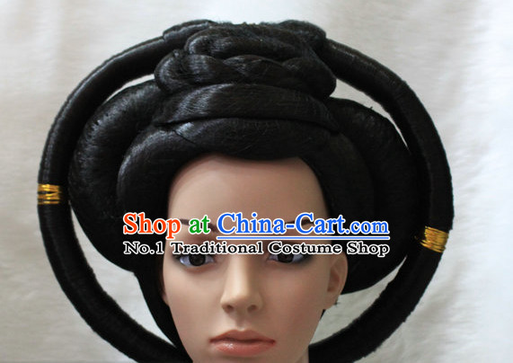 Chinese Classical Empress Black Women Wigs