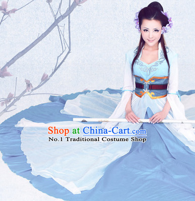 Asian Fashion Chinese Dance Outfits and Headwear