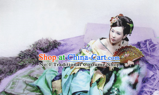Chinese Traditional National Costume Princess Clothes Hair Jewelry