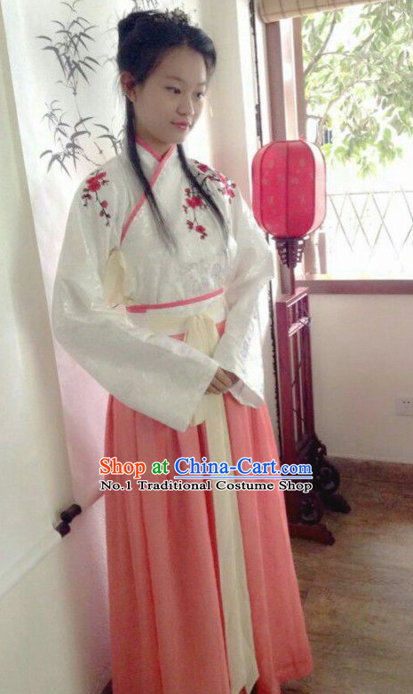 Chinese Traditional Ceremonial Clothing Chinese Ancient Teenager Hanfu Dress Free Delivery Worldwide