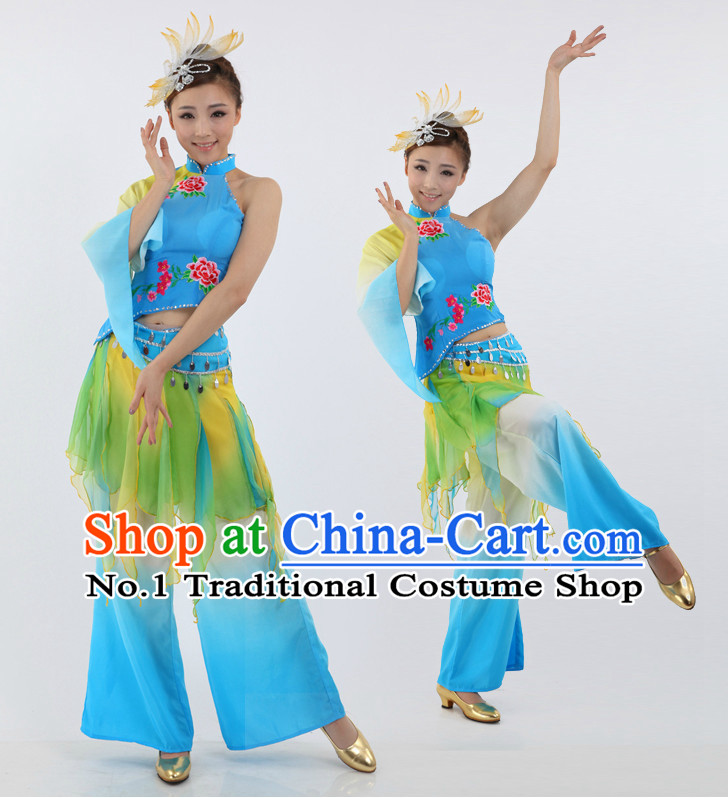Chinese Traditional Yangge Dancing Costumes Discount Dance Dostumes Discount Dance Supply for Women