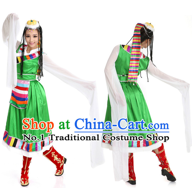 Chinese Girls Dancewear Tibet Dance Stores online and Headpieces for Women