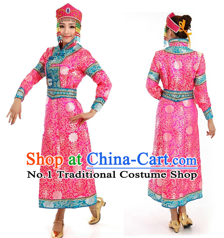Chinese Girls Dancewear Mongolian Dance Costume Stores online and Headpieces for Women
