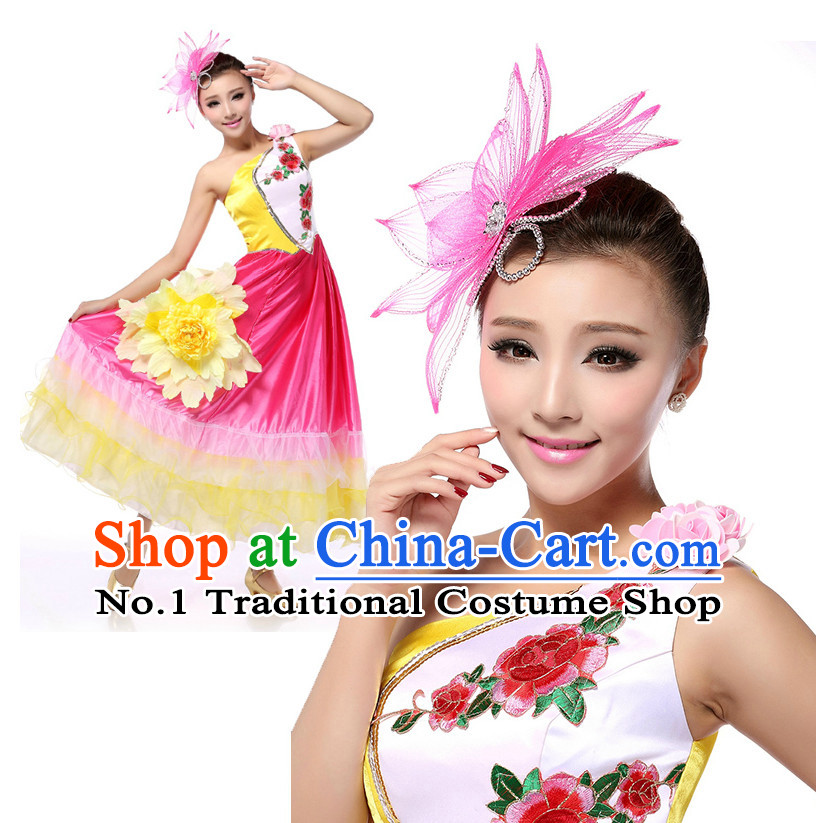 Chinese Girls Dancewear Dance Costume Stores online and Headpieces for Women