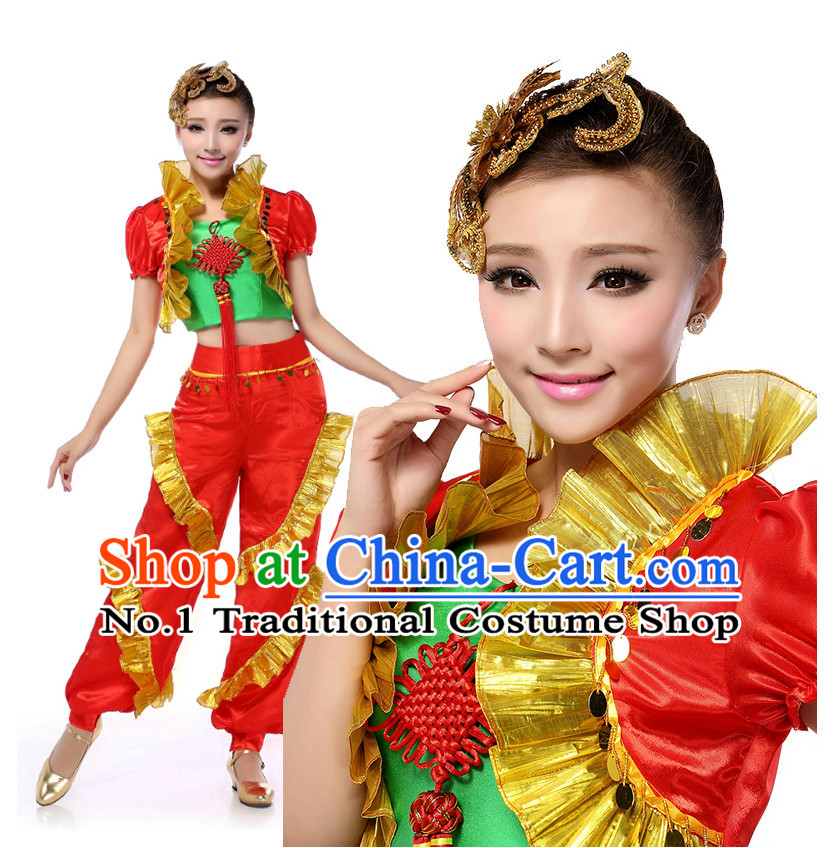 Chinese Traditional Drum Beating Dance Costumes Discount Dance Dostumes Discount Dance Supply for Women